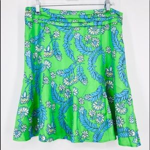 Lilly Pulitzer Adeline Silk a Skirt 10